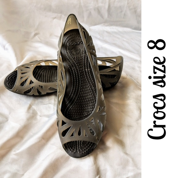 71f1071718900e CROCS Shoes - Crocs jelly flats jellies sandals brown 8 wide